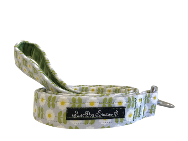 Retro Green Daisy Dog Lead ©