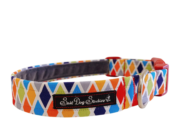 Harlequin Dog Collar ©