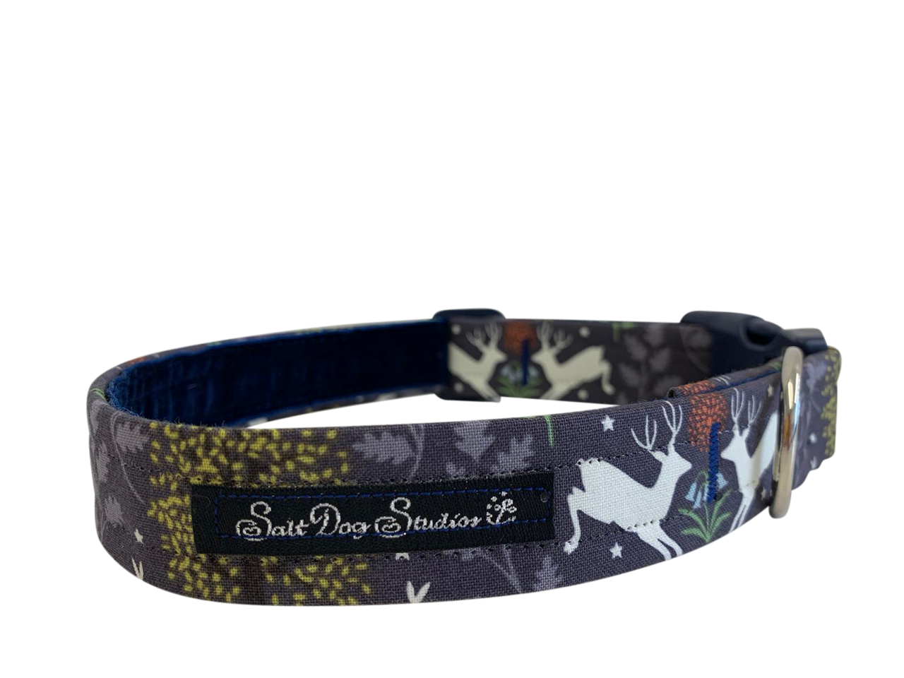 Woodland at Midnight Dog Collar ©