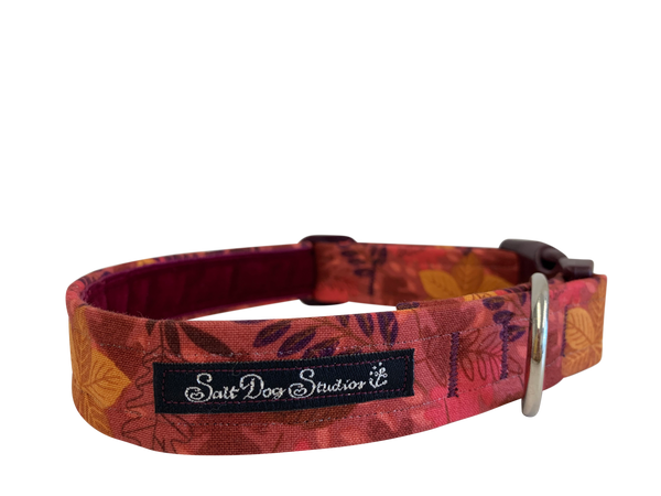 Maroon Harvest Dog Collar ©