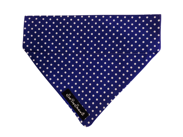 Navy Polka Dot Dolly Bandana ©