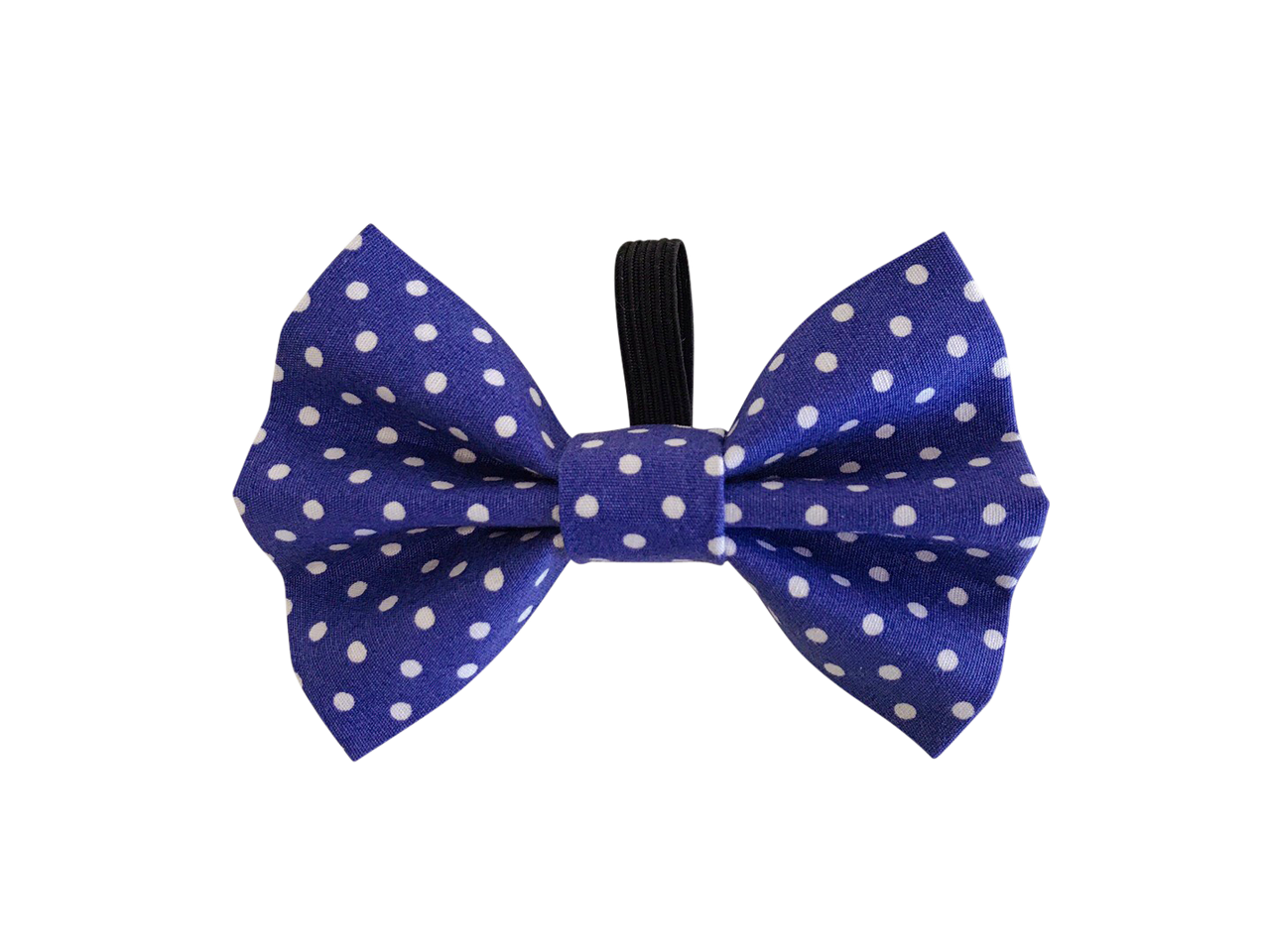 Navy Polka Dot Dolly Bow Tie ©