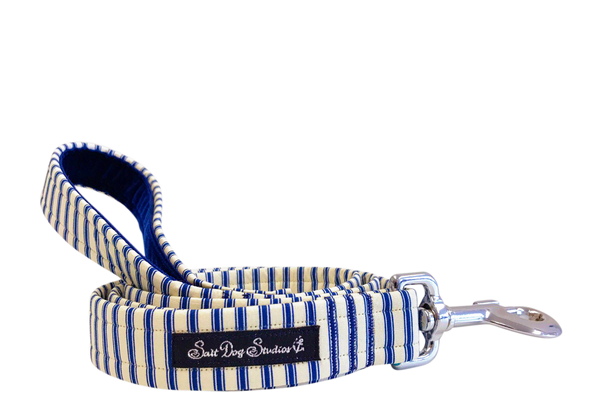 Navy Striped PJ's Dog Lead ©