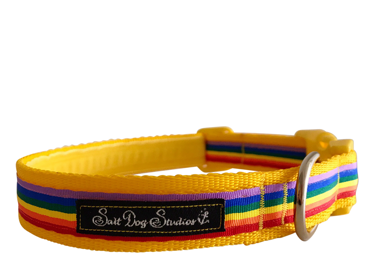 Yellow Rainbow Dog Collar ©