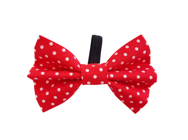 Red Polka Dot Dolly Bow Tie ©