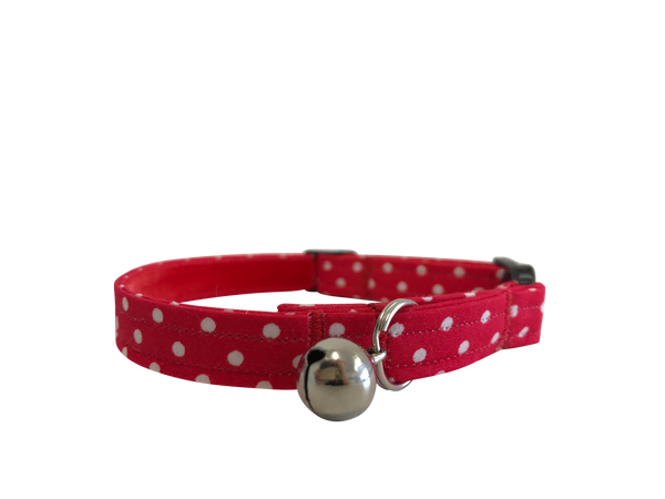 Red Polka Dot Dolly Cat Collar ©