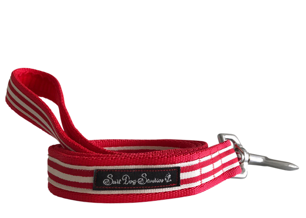 Classic Red Stripes Dog Lead ©