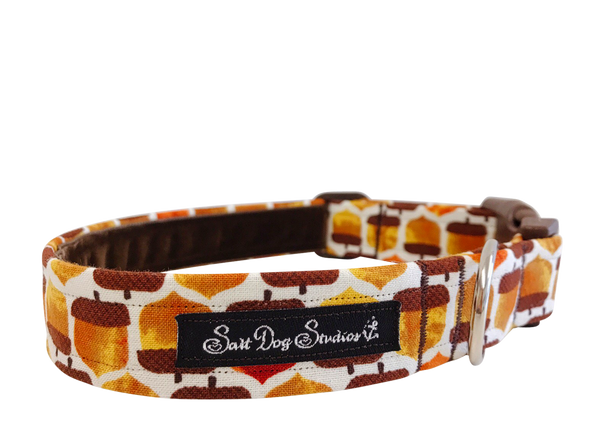 Squirrels Treasure Autumn Dog Collar ©
