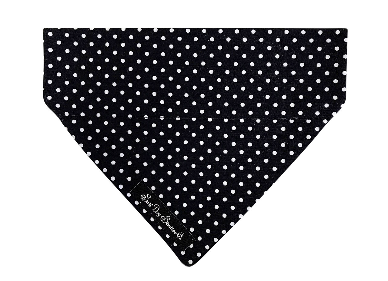Black Polka Dot Dolly Bandana ©