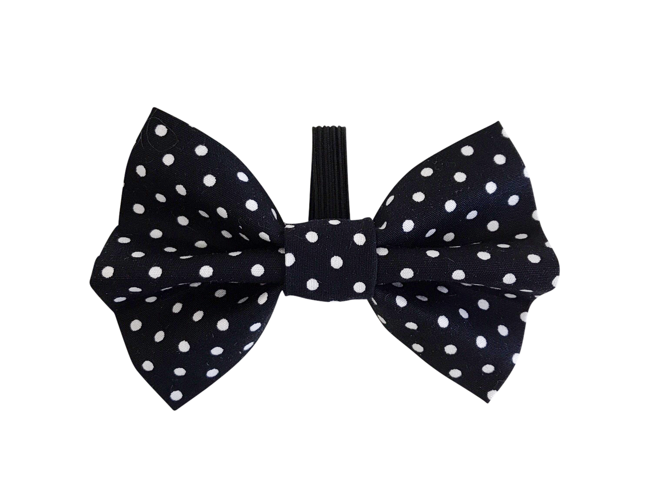 Black Polka Dot Dolly Bow Tie ©