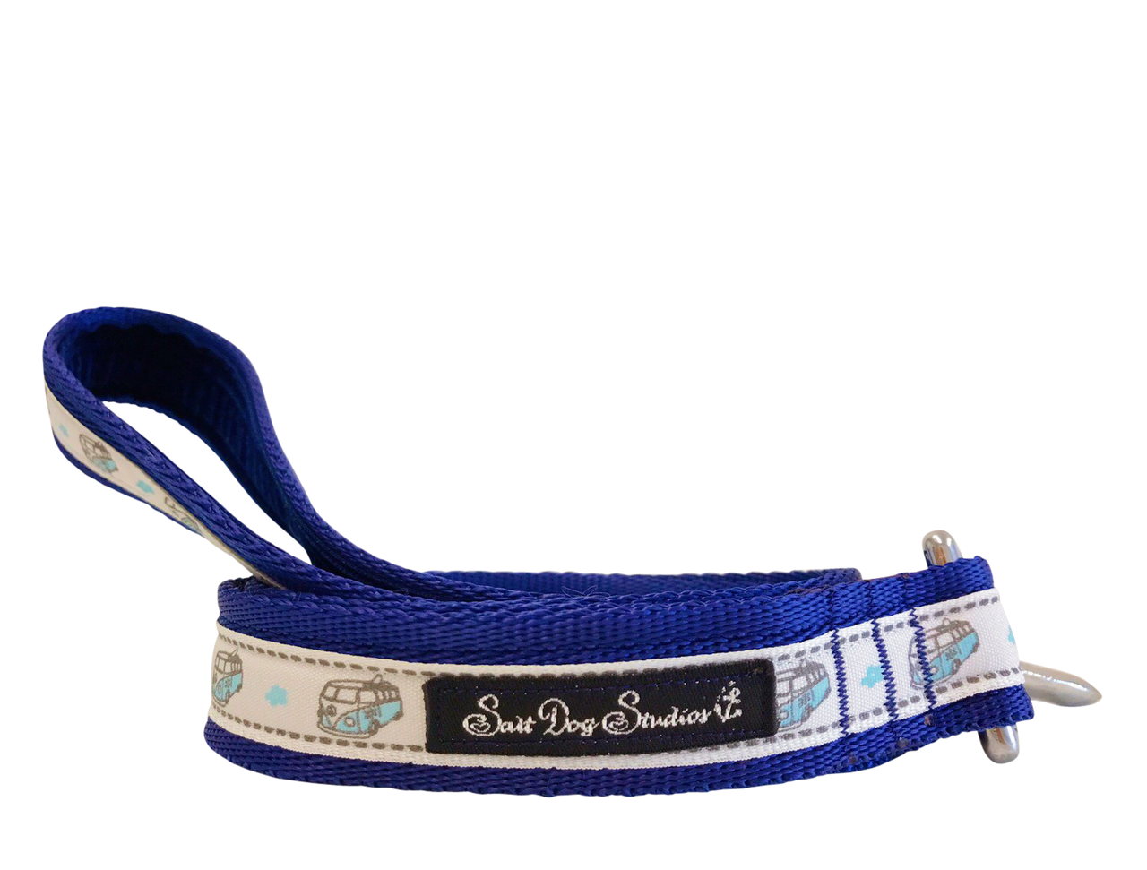 Blue Happy Campers Dog Lead ©