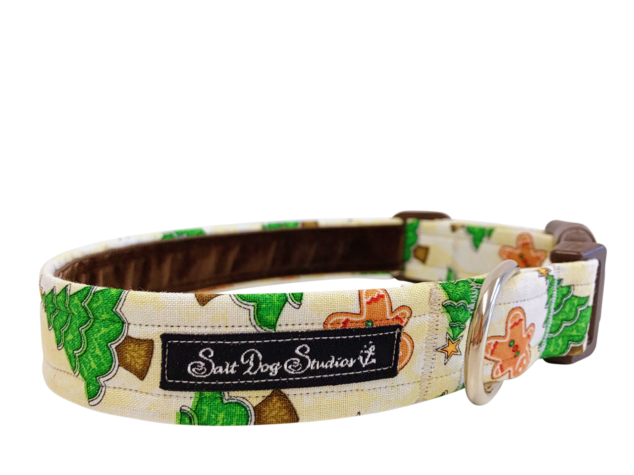 Christmas Cottage Dog Collar ©
