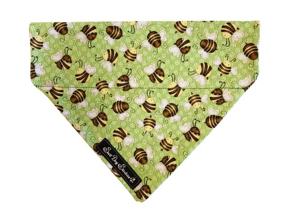 Humble Bumble Green Dog Bandana ©