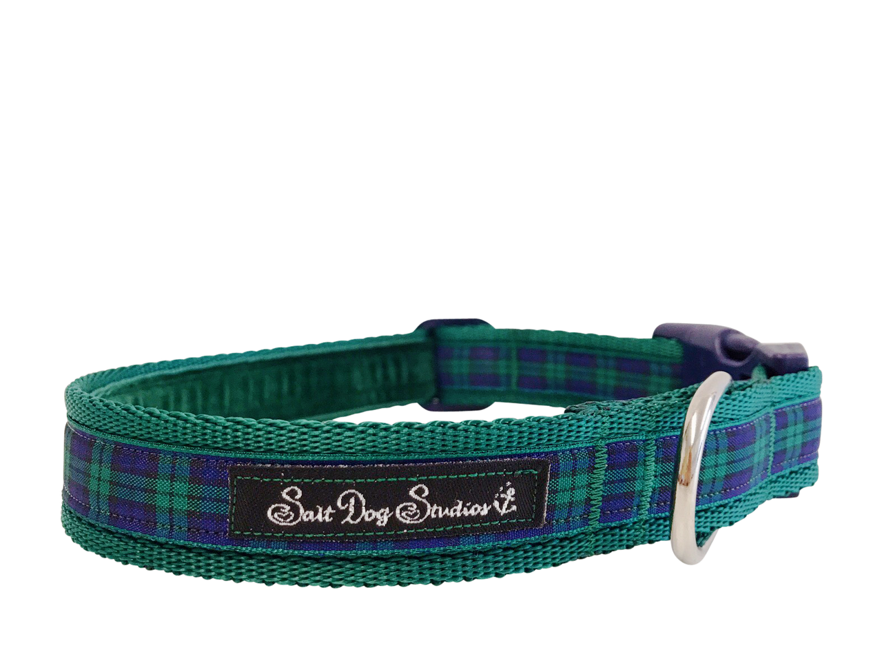 Green Tartan Dog Collar ©