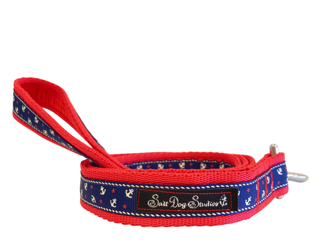 Little Sailors Navy on Red Dog Lead ©