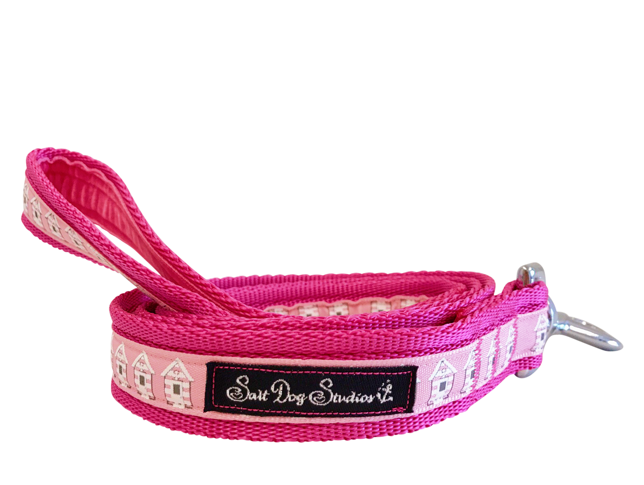 Pink Beach Huts Dog Lead ©