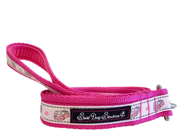 Pink Happy Campers Dog Lead ©