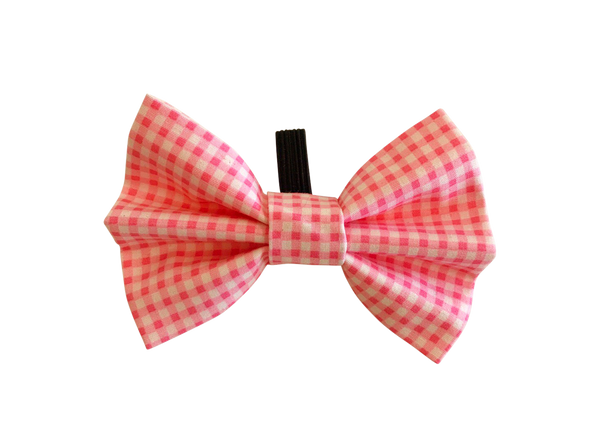 Baby Pink Gingham Bow Tie ©