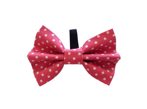Pink Polka Dot Dolly Bow Tie ©