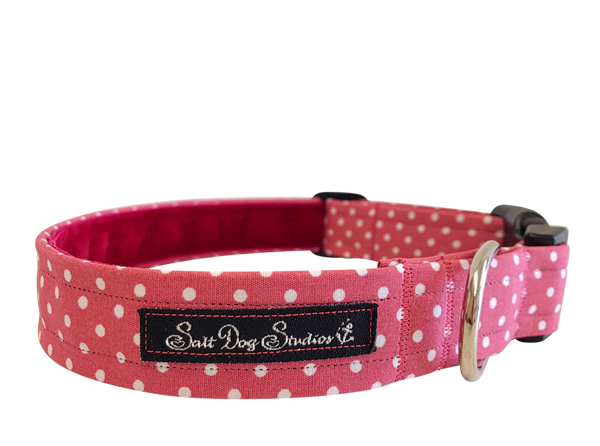 Pink Polka Dot Dolly Dog Collar ©