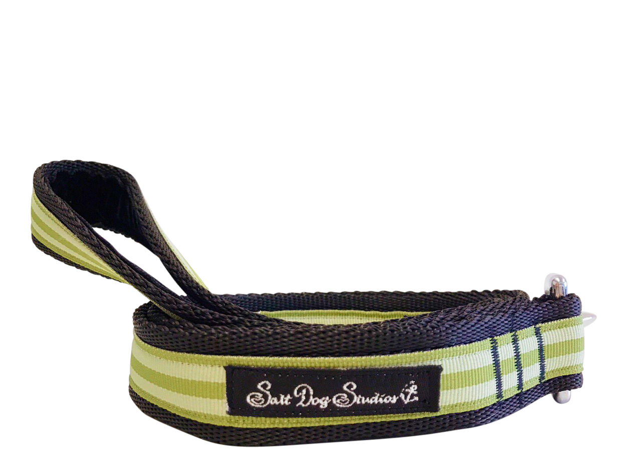 Pistachio Stripe Dog Lead ©