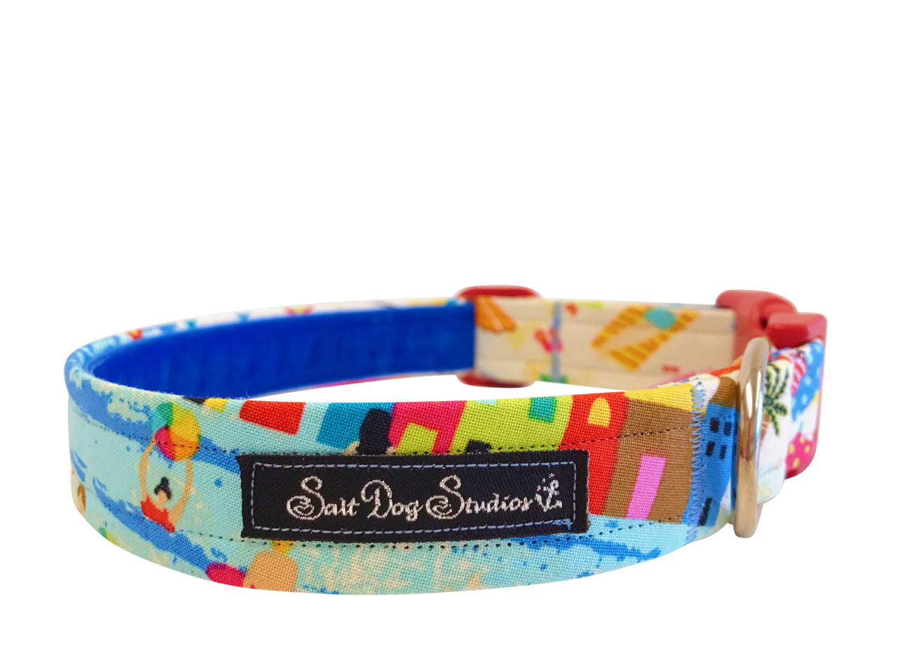 Sandy Paws, Salty Kisses Dog Collar ©
