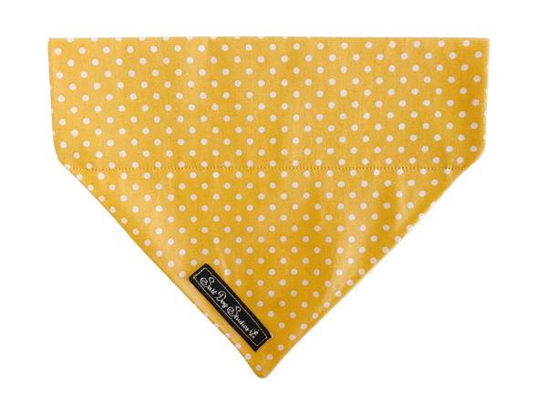 Yellow Polka Dot Dolly Bandana ©