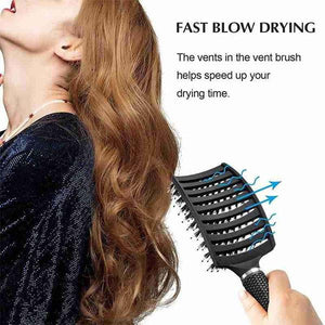 FIZO™  Detangler Bristle Nylon Hairbrush | Ship from USA | Buy 2 Get FREE SHIPPING