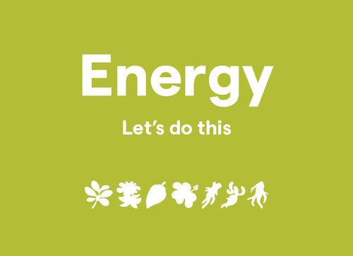 Clover Energy - Let's do this, shown with blend illustrations
