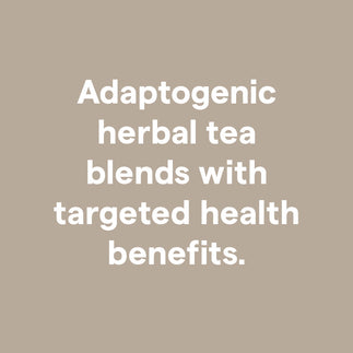 Clover Adaptogenic herbal tea blends with targeted health benefits