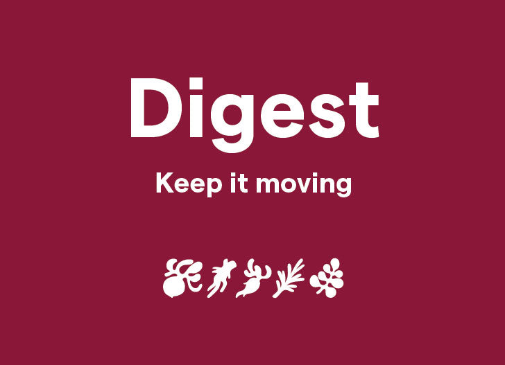 Clover Digest - Keep it moving, shown with blend illustrations