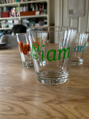 Open image in slideshow, Personalized glass with name