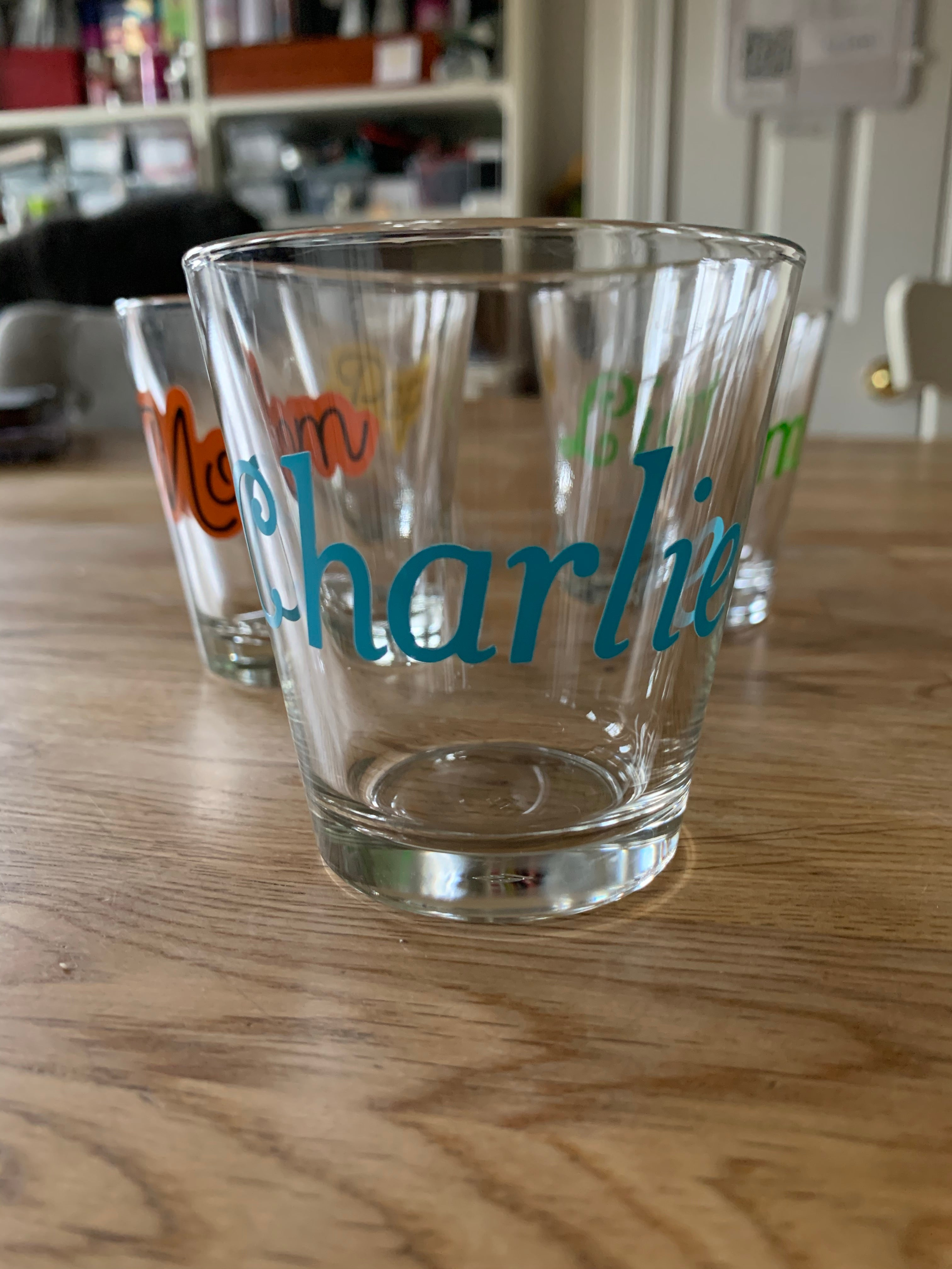 Personalized glass with name
