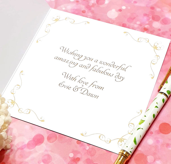 Confirmation Card - Rustic Sparkle