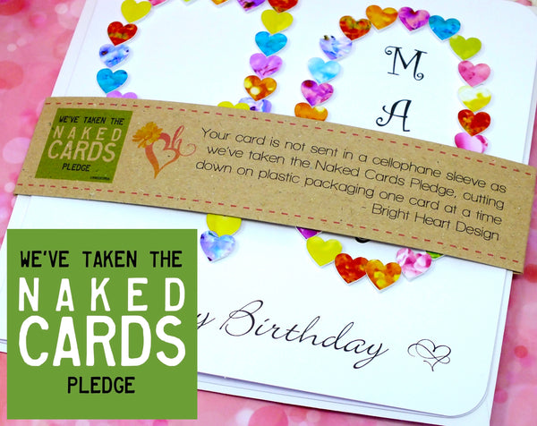 Age 90 Birthday Card - Hearts, Personalised