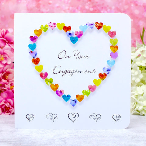 On Your Engagement Card - Hearts Main