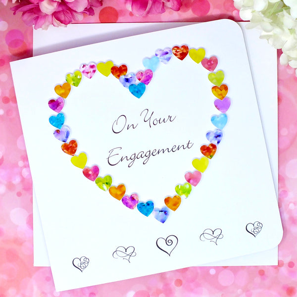 On Your Engagement Card - Hearts