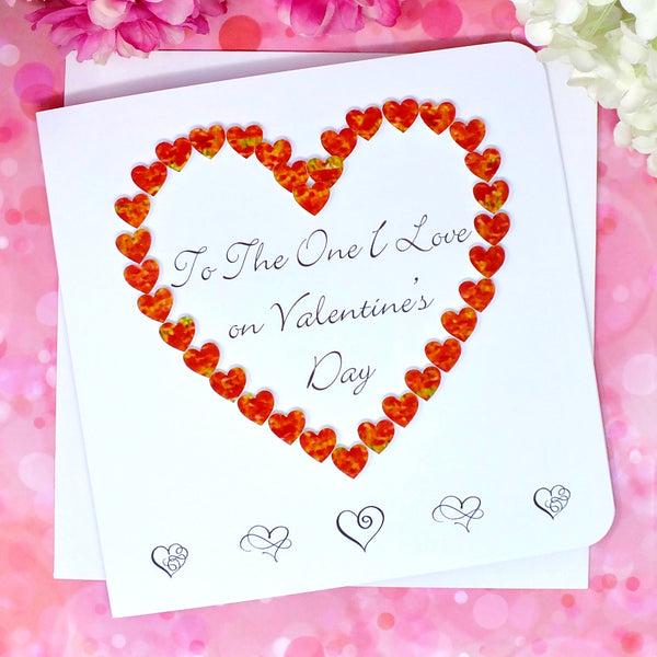 To The One I Love on Valentine's Day Card - Hearts Alternate