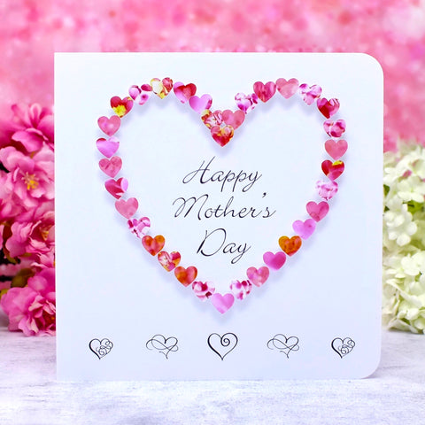 Happy Mother's Day Card - Hearts Main