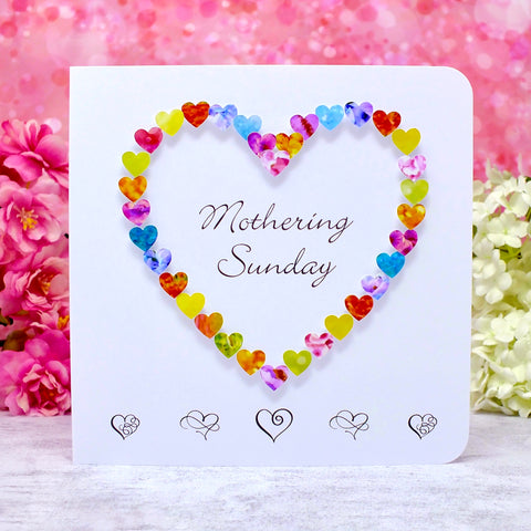 Mothering Sunday Card - Hearts
