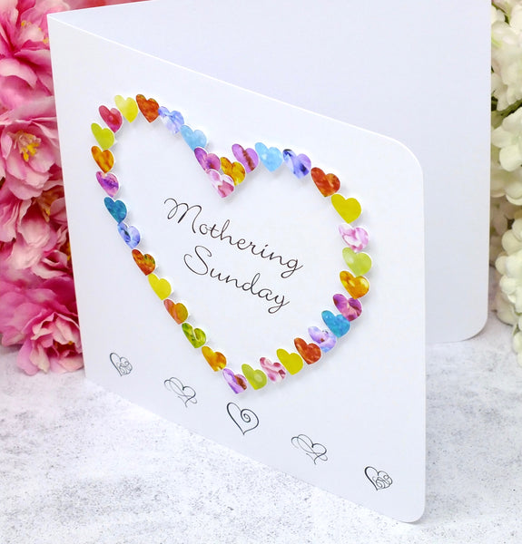 Mothering Sunday Card - Hearts Side