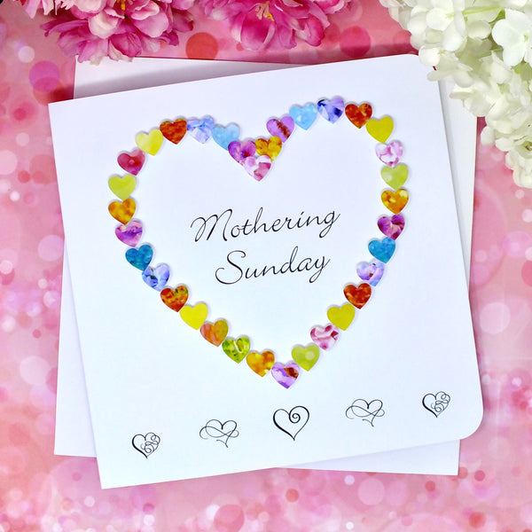 Mothering Sunday Card - Hearts Alternate