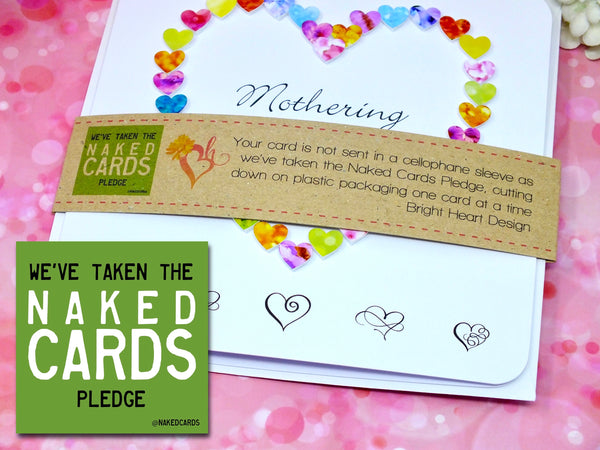 Mothering Sunday Card - Hearts + Band