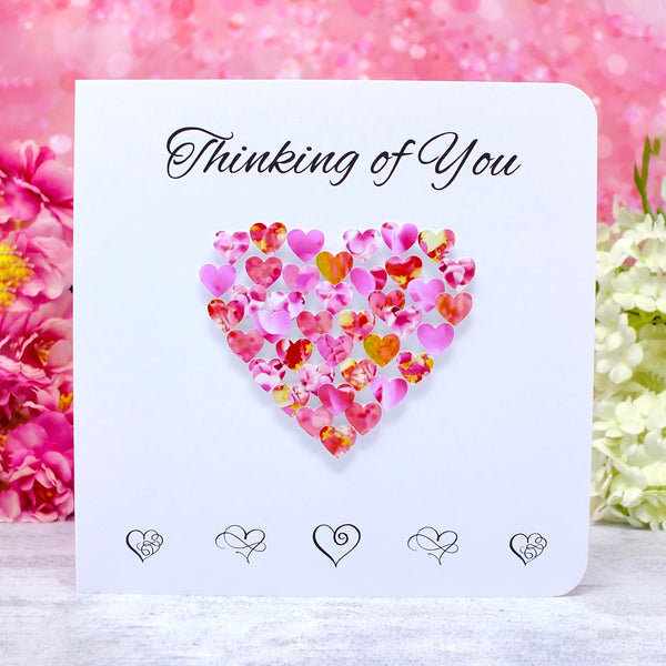 Thinking of You Card - Hearts Main