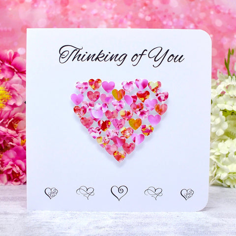 Thinking of You Card - Hearts