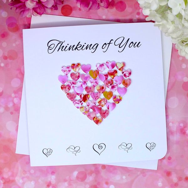 Thinking of You Card - Hearts Alternate
