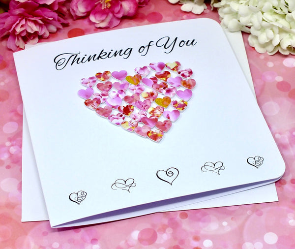 Thinking of You Card - Hearts Front