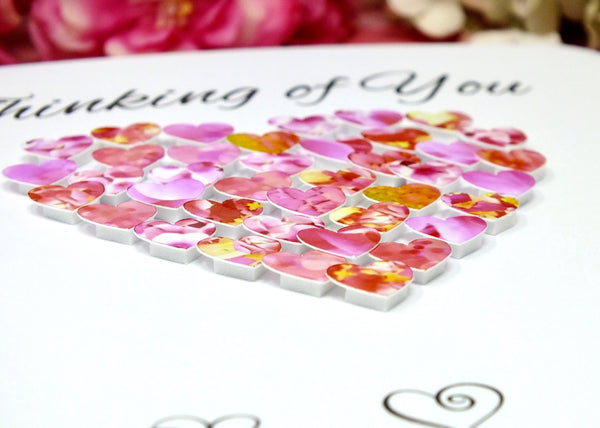 Thinking of You Card - Hearts Close Up