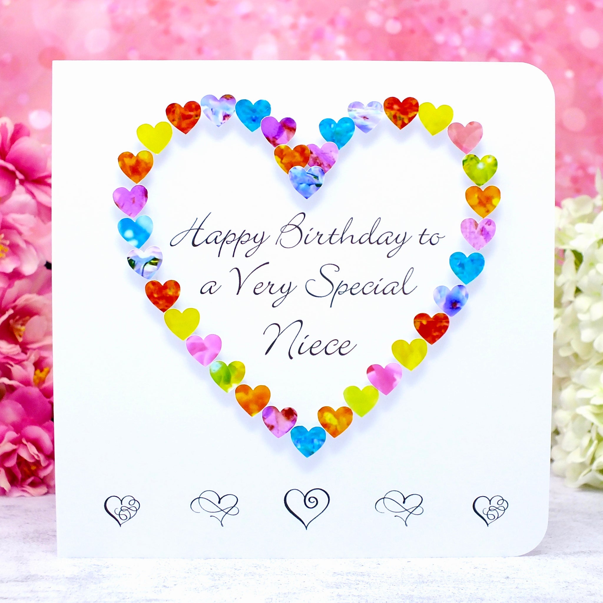 Birthday Card for Special Niece - Hearts