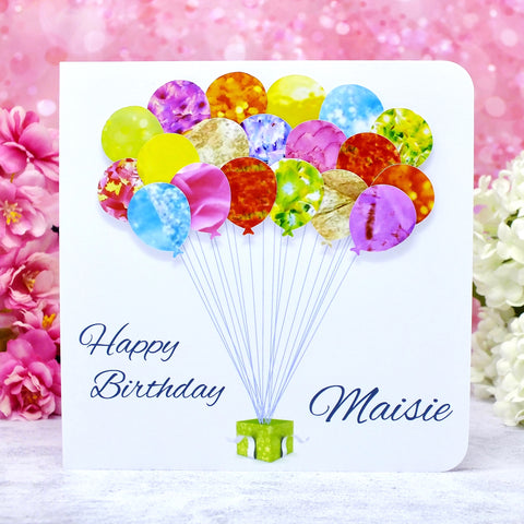 Personalised Birthday Card - Balloons